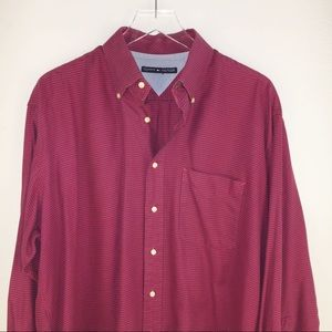 Red Tommy Hilfiger Men's Shirt XXL